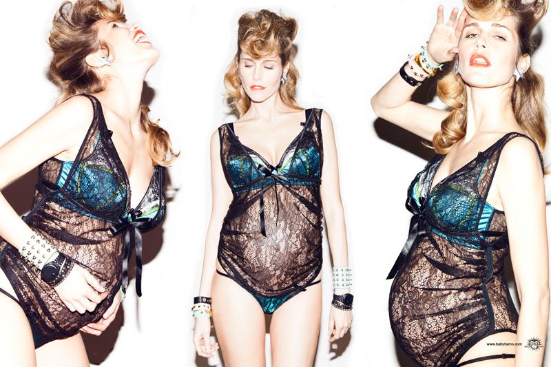 Baby, Ti Amo, das neue Dessous Label aus Italien schneidert super sexy Wäsche für werdende und stillende Mütter.