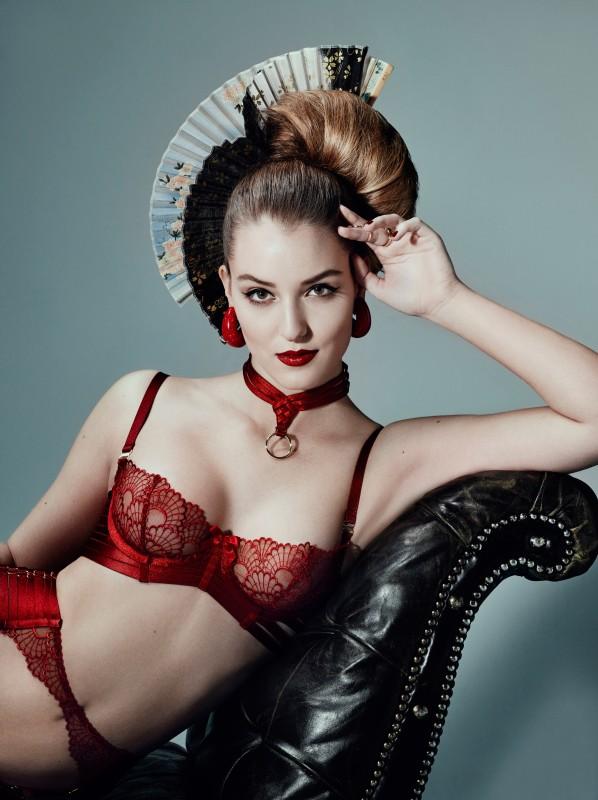 Luxury-bondage-lingerie-sensu-red-balconnette-bra-asobi-collar-598x800